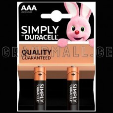 Duracell Simply AAA Alkaline batteries (2 pc.)