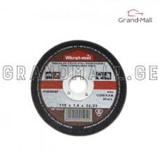 Cutting disc for steel Wkret-met TCSI-11510 115x1.6x22 mm