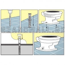 Mounting kit mounting of urinals Wkret-Met BKMMX-10080B 2pcs